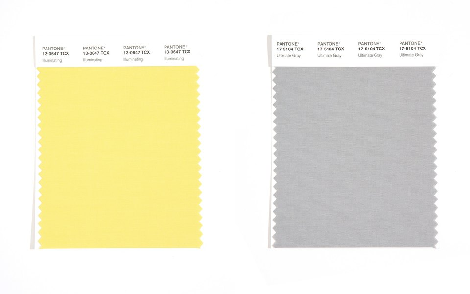 Ultimate Grey та Illuminating Yellow